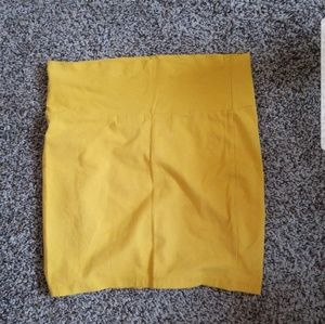 Charlotte Russe Yellow Pencil Skirt Size M